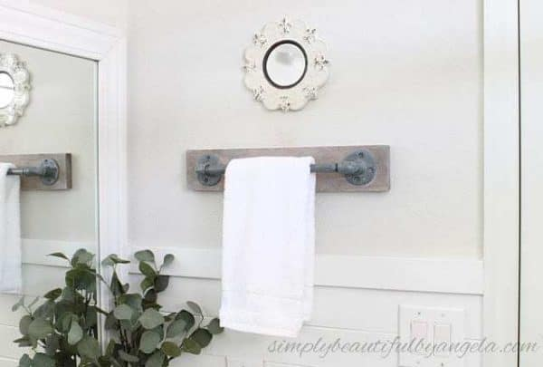 Diy Towel Bar From Plumbing Parts