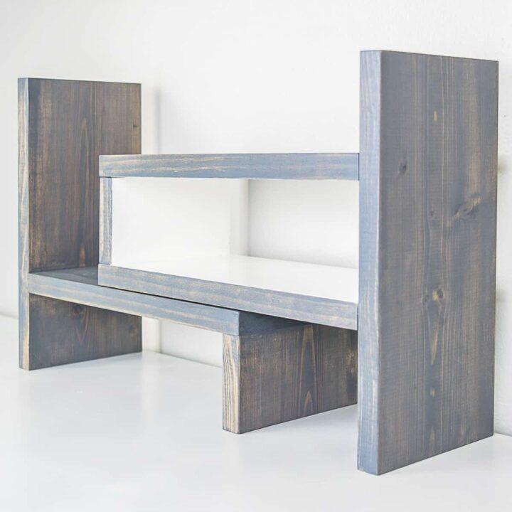 DIY desk shelf
