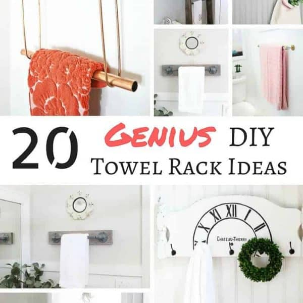 These genius DIY towel rack ideas will have you tearing out that boring bar!