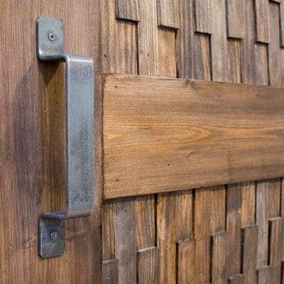 DIY Sliding Barn Door with Wood Shim Panels