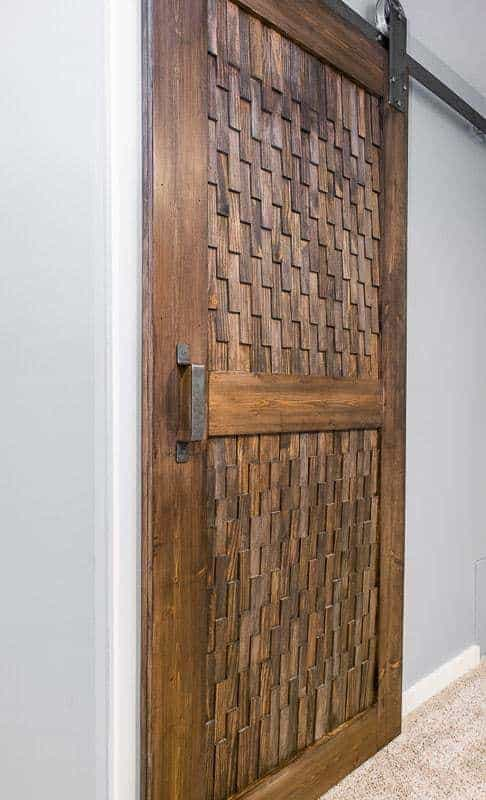 Want a different take on a sliding barn door? This texture is amazing!