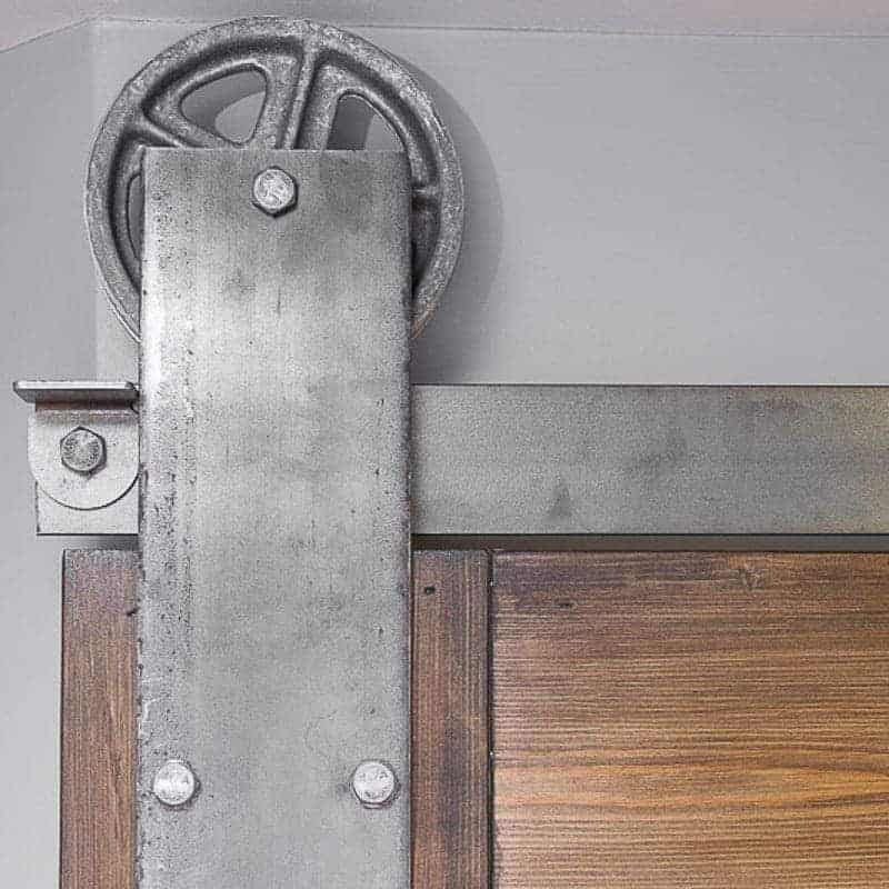 Love this sliding barn door hardware!
