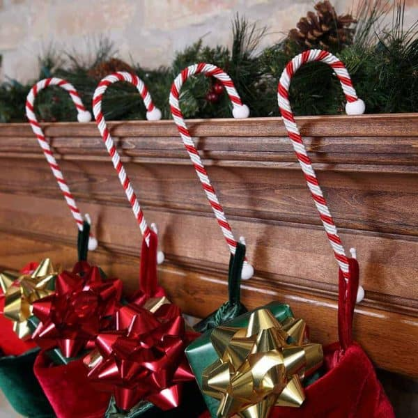 These candy cane stocking holders are adorable!
