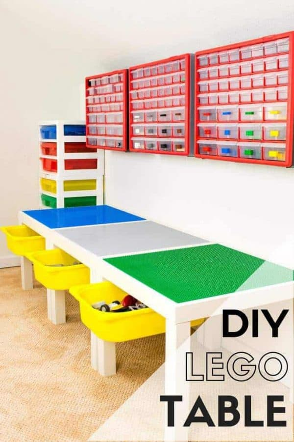 DIY Lego Table with Storage - The Handyman's Daughter
