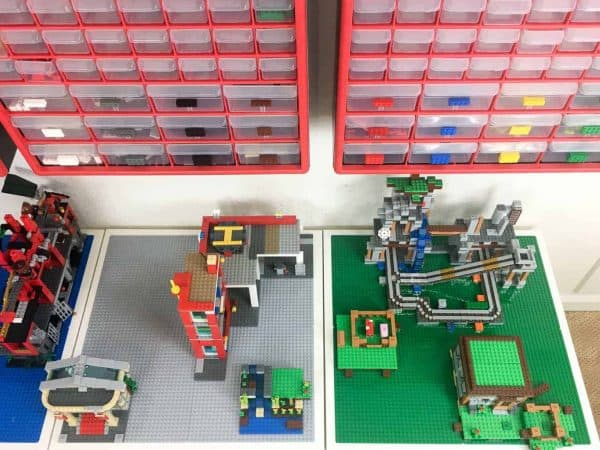 Diy lego table with storage the handymans daughter diy lego table with various lego builds solutioingenieria Gallery