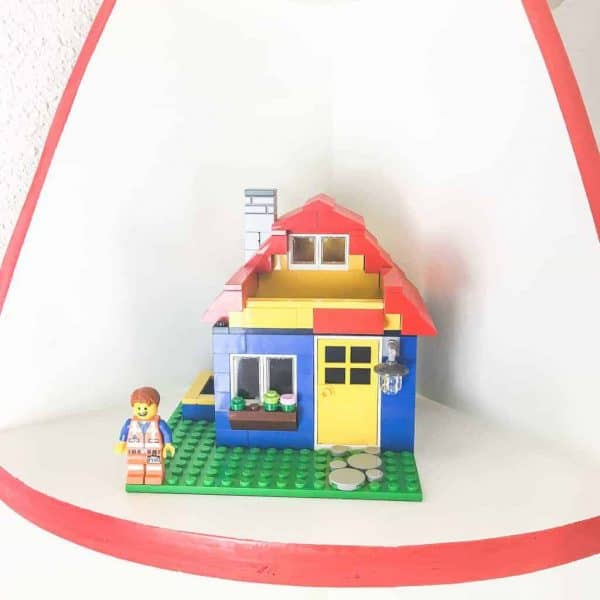 lego house on shelf