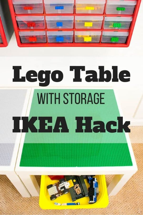 DIY Lego Table with Storage IKEA hack