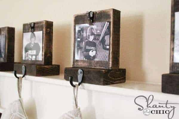 Display your favorite memory of the year with these photo stocking holders from Shanty 2 Chic!