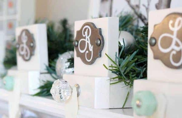Customize these elegant stocking holders for each member of the family!