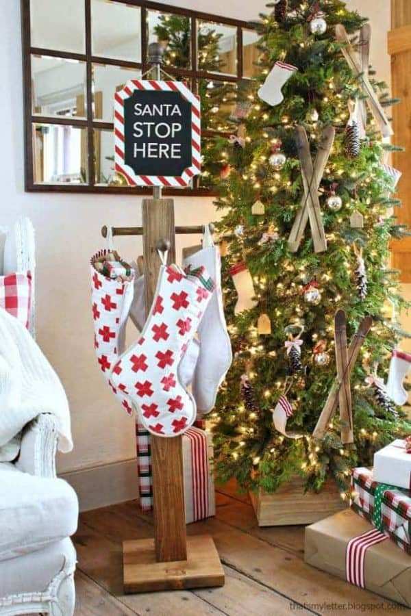 Make your own stocking holder post with this tutorial from Jamie Costiglio!