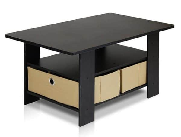 coffee table with storage perfect for a DIY lego table