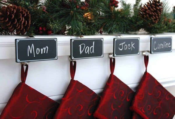 These name tag stocking holders makes sure everyone gets the right one.