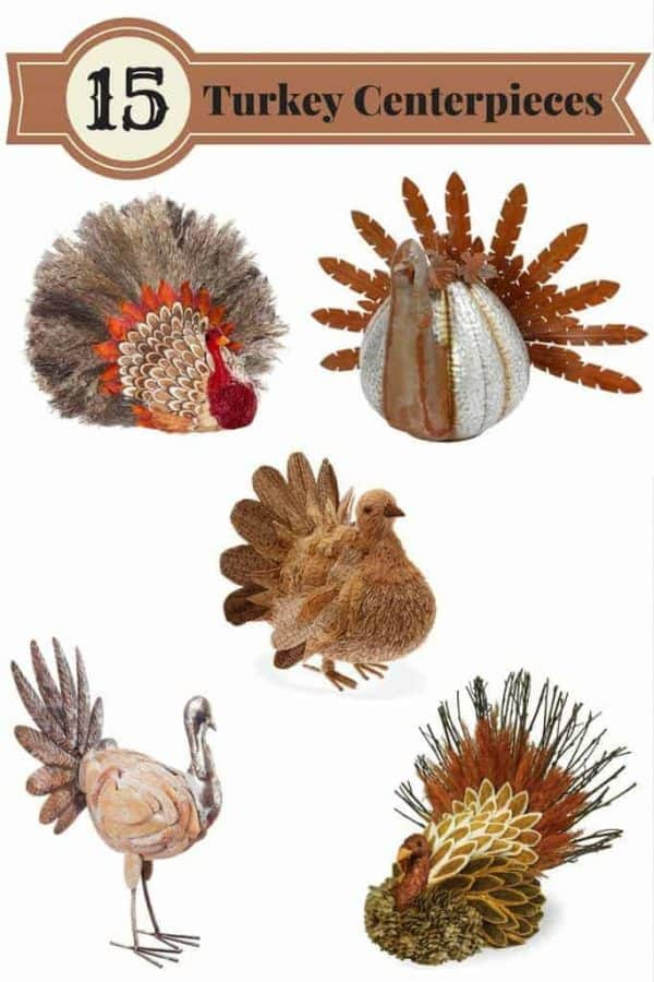 Top your Thanksgiving table off with one of these turkey decorations! Get them before they're gone!