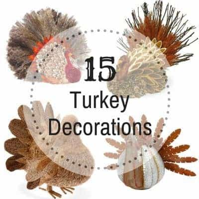 Get your table ready for Thanksgiving with these 15 turkey decorations!