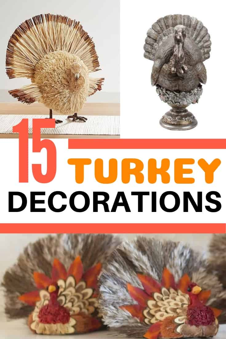 15 turkey decorations for Thanksgiving dinner