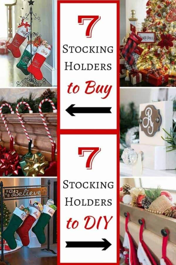 Whether you buy or DIY, I've found the best stocking holders for your Christmas decor!