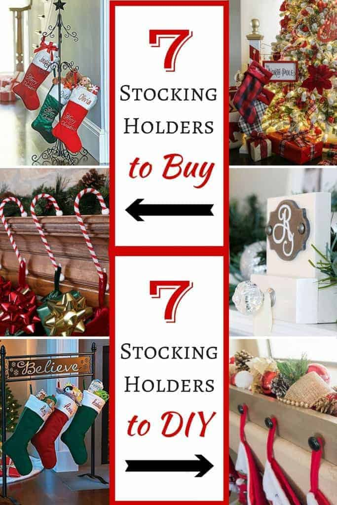 7 stocking holders to buy and 7 stocking holders to DIY