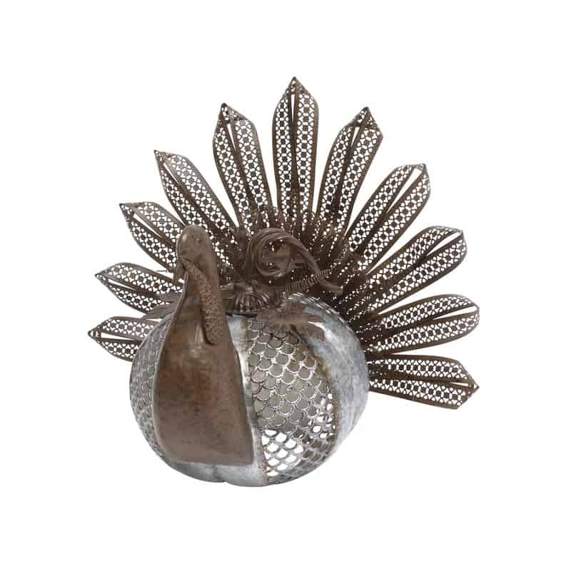 metal turkey decoration