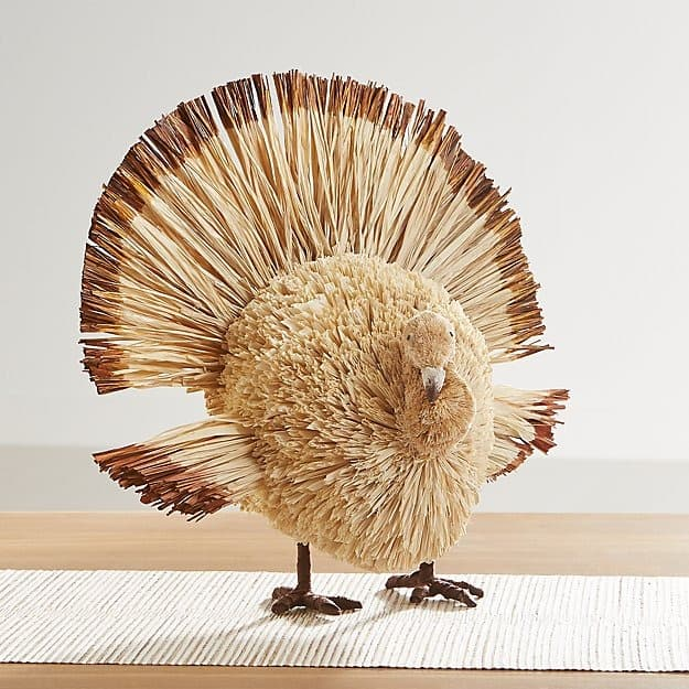 raffia turkey decoration from Crate and Barrel