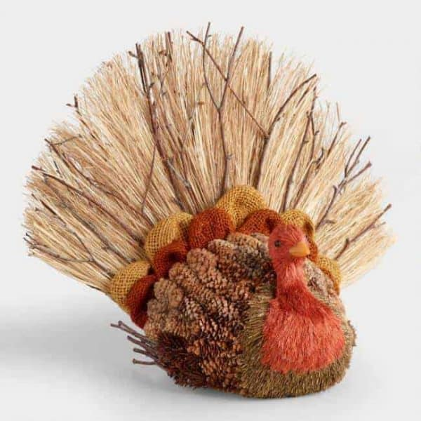 Grab this adorable turkey decoration from World Market before Thanksgiving!