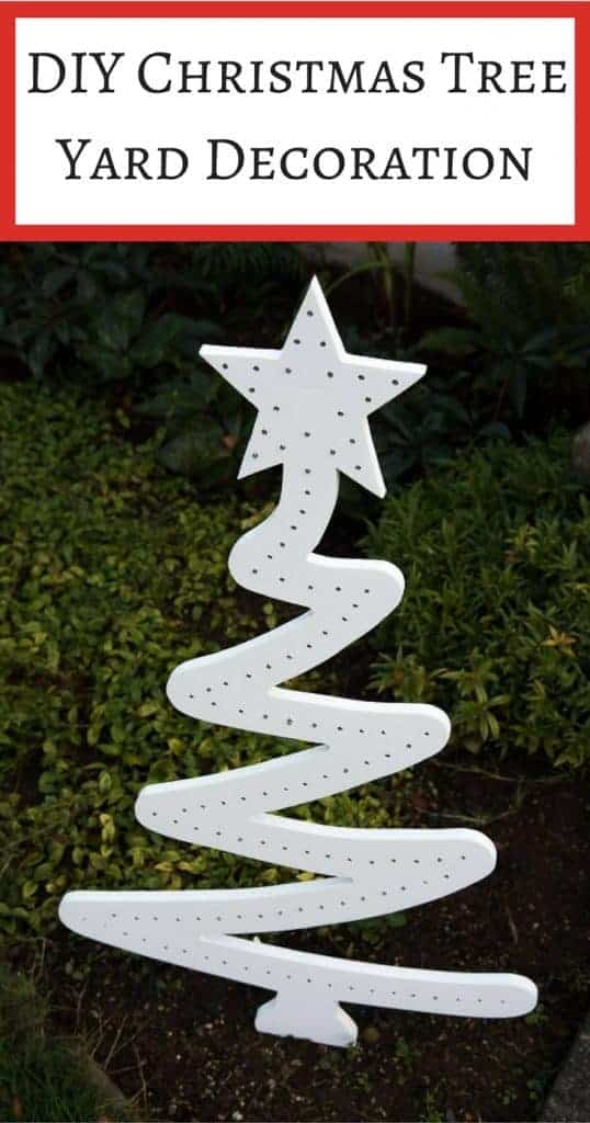 Brighten up your yard this holiday season with a DIY Christmas tree yard decoration! Looks amazing both day and night!