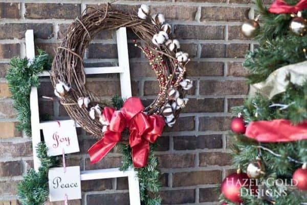 Make this decorative ladder by Hazel and Gold, and leave it up all year long!