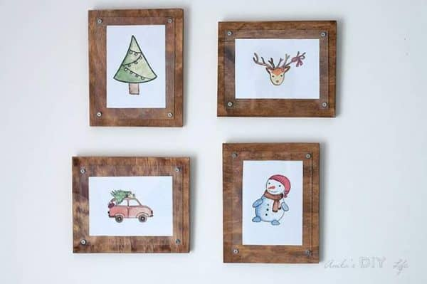 The fifth day of a DIY Christmas comes from Anika's DIY Life, with these simple picture frames!