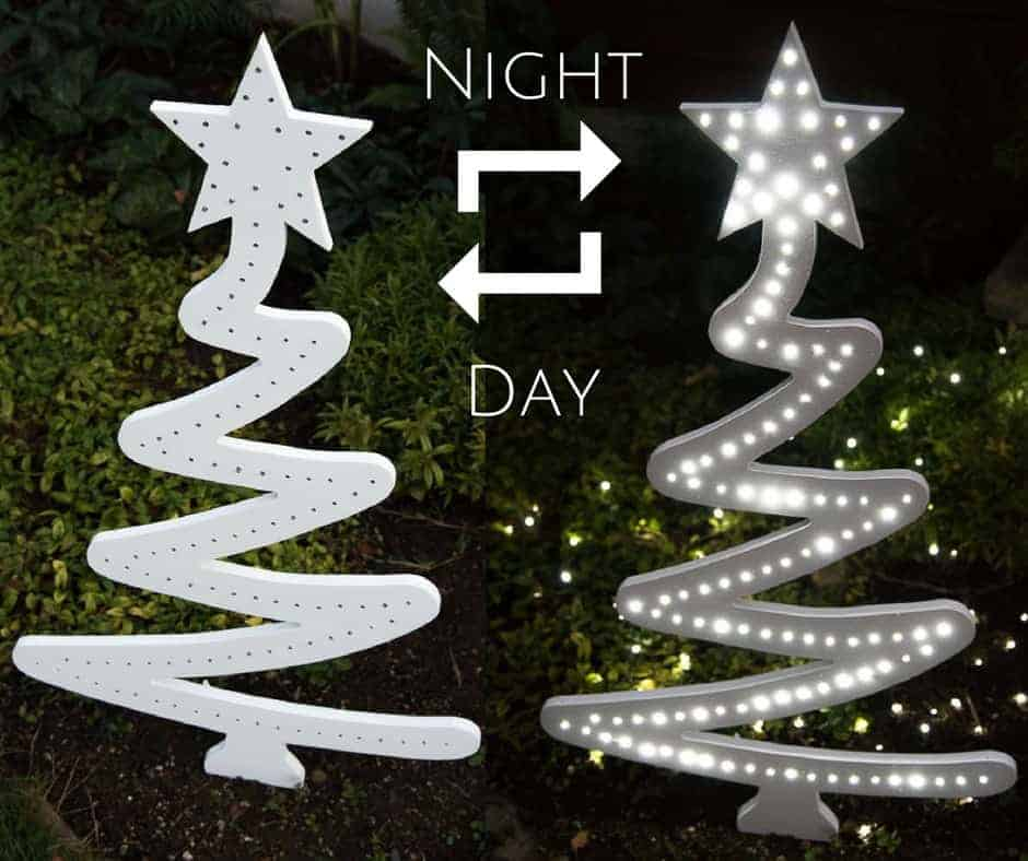 28 Outdoor Lighting Diys To Brighten Up Your Summer: DIY Christmas Tree Yard Decoration