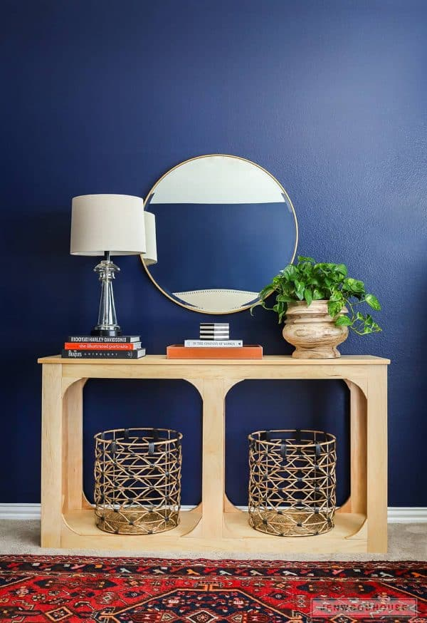 Can you believe this console table was built with just a single sheet of plywood? Jen Woodhouse shows you how!