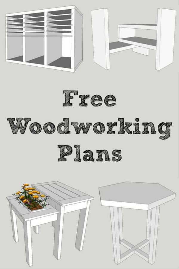 Want free, easy-to-read woodworking plans? Sign up at The Handyman's Daughter and get access to all the plans in her woodworking plans library! Download and print the PDF of each project and get building! | building plans | free plans | furniture plans | furniture projects