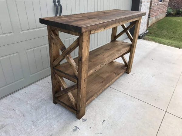 Build this X console table by Handmade Haven yourself in a weekend!