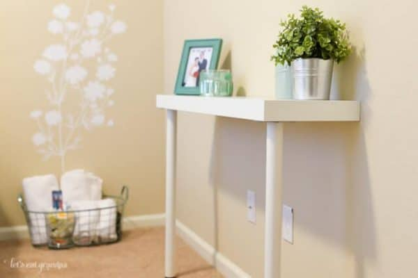 This console table IKEA hack from Hey Let's Make Stuff is genius!