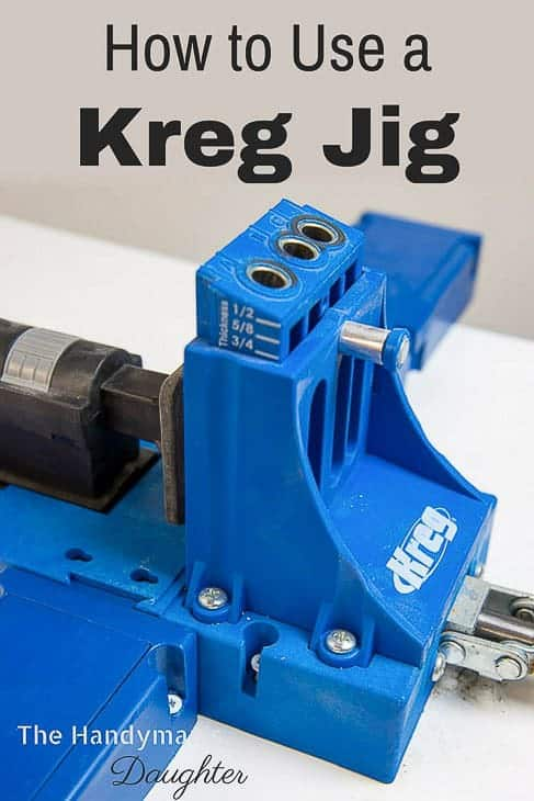 Kreg Jig K5 pocket hole jig with text overlay reading