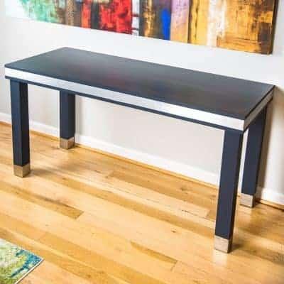 DIY Wood and Metal Desk