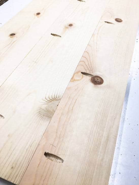 Pocket holes are a great way to create wide table tops without any screws showing!