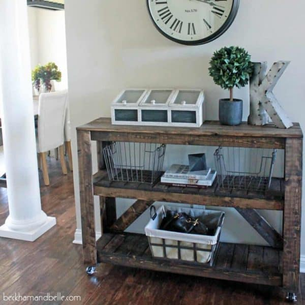 Make this DIY console table with only $30 in lumber!