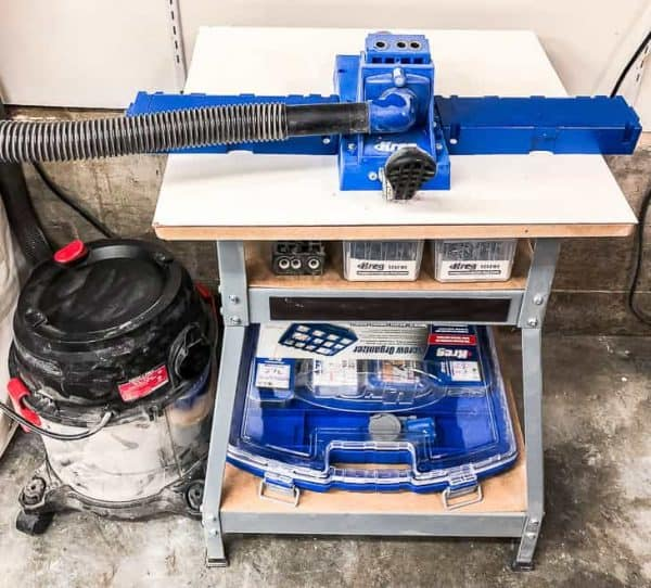 The Kreg Jig is one of my most commonly used tools in the workshop, so I created a Kreg Jig workstation for it!