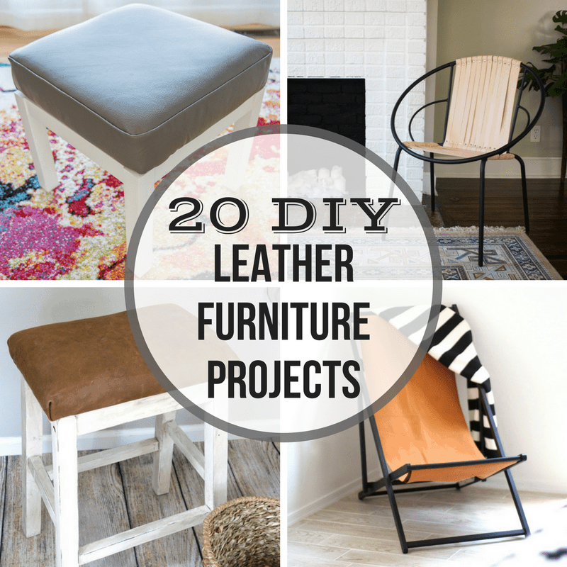 Diy Home Decor Ideas That Anyone Can Do: 20 DIY Leather Furniture Projects