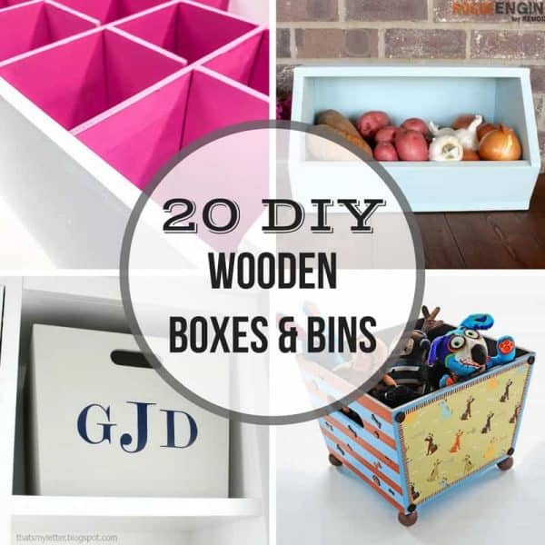20 DIY wooden boxes and bins