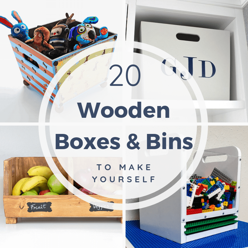 10 wooden boxes and bins to make yourself