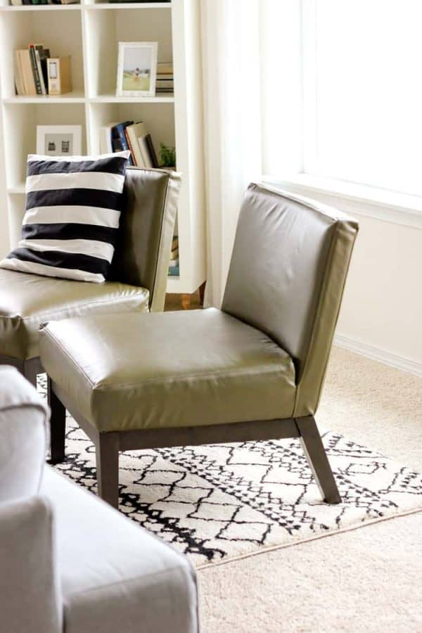 DIY leather project - diy leather chair cover