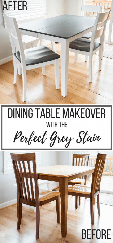 dining table makeover before and after photos
