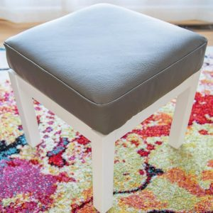 DIY leather ottoman - leather projects