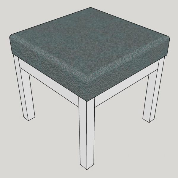 3D model of DIY ottoman