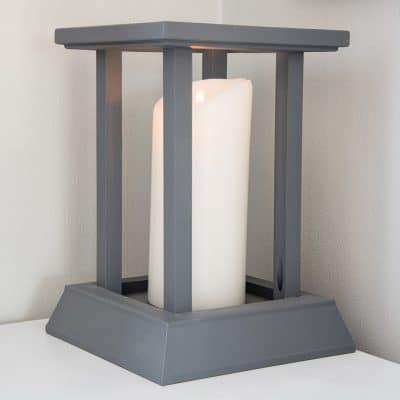 DIY Candle Lantern from Scrap Trim