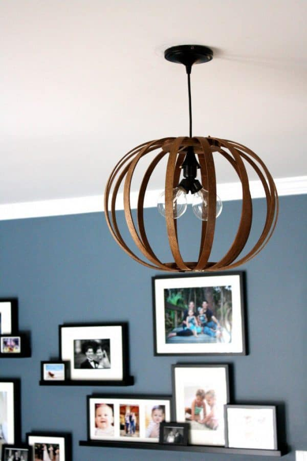 DIY lighting - pendant light hanging from ceiling