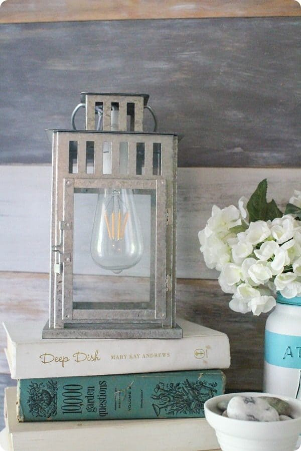 DIY lamp made from lantern