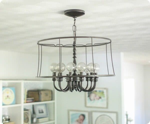 upcycled DIY chandelier