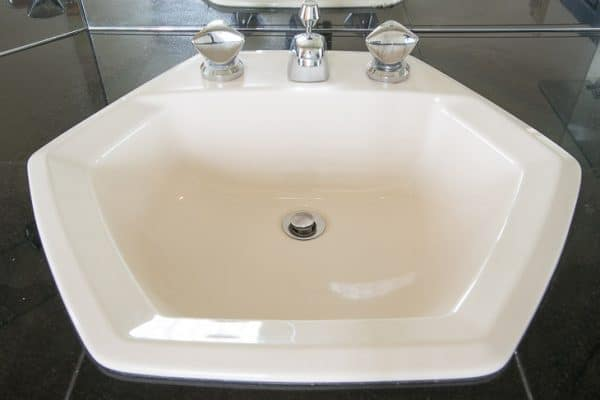 hexagon shaped almond sink
