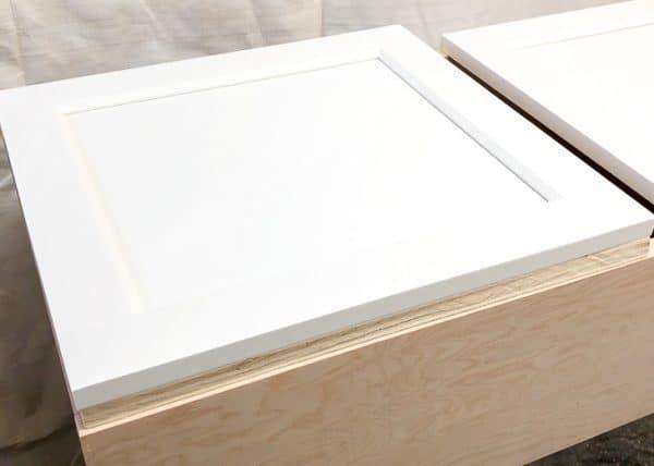 plywood under new cabinet door